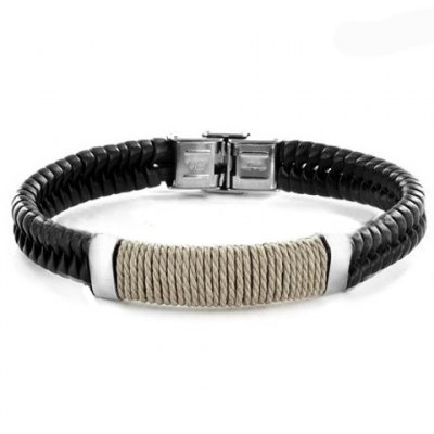 Classic Faux Leather Knitted Mens BraceletBracelets &amp; Bangles<br>Classic Faux Leather Knitted Mens Bracelet<br><br>Item Type: Charm Bracelet<br>Gender: For Men<br>Chain Type: Leather Chain<br>Style: Classic<br>Shape/Pattern: Others<br>Weight: 0.060KG<br>Package Contents: 1 x Bracelet