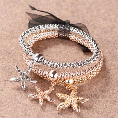 Chic Rhinestone Layered Starfish Womens BraceletBracelets &amp; Bangles<br>Chic Rhinestone Layered Starfish Womens Bracelet<br><br>Item Type: Charm Bracelet<br>Gender: For Women<br>Chain Type: Beads Bracelet<br>Material: Rhinestone<br>Style: Trendy<br>Shape/Pattern: Others<br>Weight: 0.080KG<br>Package Contents: 1 x Bracelet