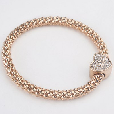 Trendy Rhinestone Heart Womens BraceletBracelets &amp; Bangles<br>Trendy Rhinestone Heart Womens Bracelet<br><br>Item Type: Charm Bracelet<br>Gender: For Women<br>Chain Type: Link Chain<br>Material: Rhinestone<br>Style: Trendy<br>Shape/Pattern: Heart<br>Weight: 0.07KG<br>Package Contents: 1 x Bracelet