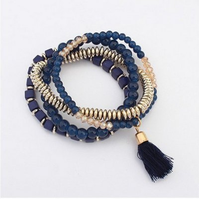 Classic Layered Beads Bracelet For Women