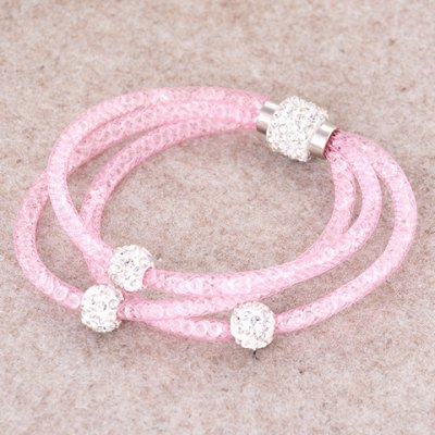 Charming Rhinestone Beads Layered Women's Bracelet