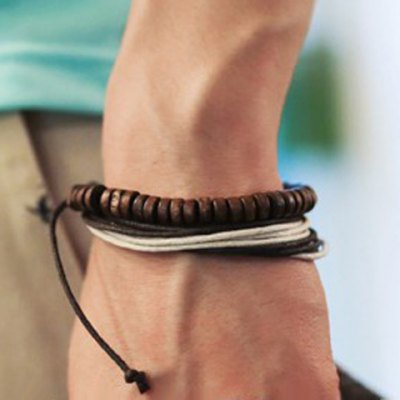 Stylish Casual Layered Chain Bracelet For Men