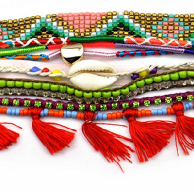Ethnic Beads Layered Tassel Colored Womens BraceletBracelets &amp; Bangles<br>Ethnic Beads Layered Tassel Colored Womens Bracelet<br><br>Item Type: Wrap Bracelet<br>Gender: For Women<br>Chain Type: Beads Bracelet<br>Style: Classic<br>Shape/Pattern: Others<br>Length: 19CM<br>Weight: 0.080KG<br>Package Contents: 1 x Bracelet