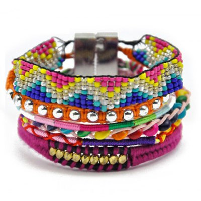 Stylish Beads Weaved Bracelet For Women