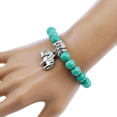 Chic Turquoise Elephant Bracelet For Women
