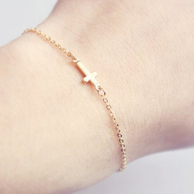 Simple Laconic Cross Bracelet For Women