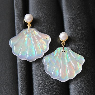 Pair of Sweet Faux Pearl Seashell Womens EarringsEarrings<br>Pair of Sweet Faux Pearl Seashell Womens Earrings<br><br>Earring Type: Drop Earrings<br>Gender: For Women<br>Material: Pearl<br>Style: Trendy<br>Shape/Pattern: Others<br>Length: 3CM<br>Weight: 0.060KG<br>Package Contents: 1 x Earring(Pair)