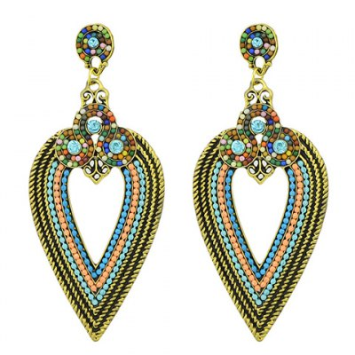 Pair of Retro Colored Beads Leaf Womens EarringsEarrings<br>Pair of Retro Colored Beads Leaf Womens Earrings<br><br>Earring Type: Drop Earrings<br>Gender: For Women<br>Style: Classic<br>Shape/Pattern: Others<br>Length: 8.7CM<br>Weight: 0.050KG<br>Package Contents: 1 x Earring(Pair)