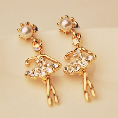 Pair of Cute Rhinestone Embellished Dancing Girl Shape Drop Earrings For WomenEarrings<br>Pair of Cute Rhinestone Embellished Dancing Girl Shape Drop Earrings For Women<br><br>Earring Type: Drop Earrings<br>Gender: For Women<br>Material: Rhinestone<br>Style: Trendy<br>Shape/Pattern: Others<br>Length: 3.6CM<br>Weight: 0.060KG<br>Package Contents: 1 x Earring(Pair)