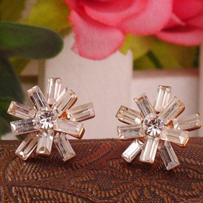 Pair of Chic Rhinestone Embellished Floral Womens EarringsEarrings<br>Pair of Chic Rhinestone Embellished Floral Womens Earrings<br><br>Earring Type: Stud Earrings<br>Gender: For Women<br>Material: Rhinestone<br>Style: Trendy<br>Shape/Pattern: Floral<br>Length: 1.6CM<br>Weight: 0.060KG<br>Package Contents: 1 x Earring(Pair)