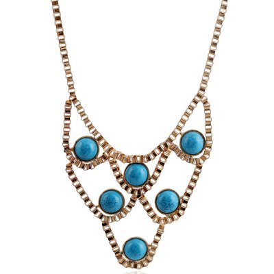 Фотография Chic Turquoise Hollow Necklace For Women