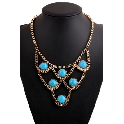 Chic Turquoise Hollow Necklace For Women