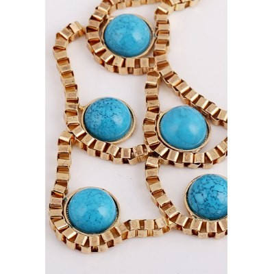 Chic Turquoise Hollow Necklace For WomenNecklaces &amp; Pendants<br>Chic Turquoise Hollow Necklace For Women<br><br>Item Type: Pendant Necklace<br>Gender: For Women<br>Material: Resin<br>Style: Trendy<br>Shape/Pattern: Geometric<br>Length: 50CM<br>Weight: 0.10KG<br>Package Contents: 1 x Necklace