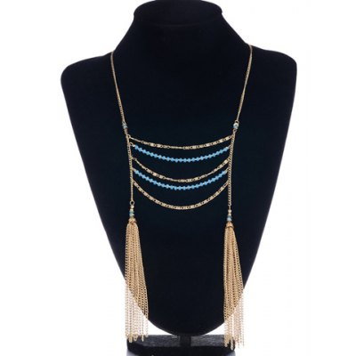Retro Classic Turquoise Layered Necklace For Women