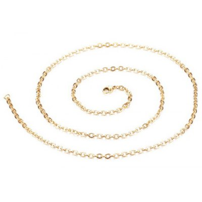 Simple Laconic Gold Color Link Necklace For Women