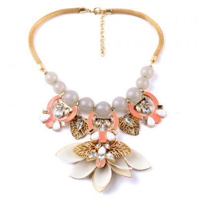 Sweet Faux Pearl Rhinestone Flower Necklace For WomenNecklaces &amp; Pendants<br>Sweet Faux Pearl Rhinestone Flower Necklace For Women<br><br>Item Type: Pendant Necklace<br>Gender: For Women<br>Material: Pearl<br>Style: Trendy<br>Shape/Pattern: Floral<br>Length: 53CM<br>Weight: 0.140KG<br>Package Contents: 1 x Necklace