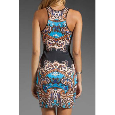 Alluring Round Neck Sleeveless Printed Womens DressWomens Dresses<br>Alluring Round Neck Sleeveless Printed Womens Dress<br><br>Style: Sexy &amp; Club<br>Material: Polyester<br>Silhouette: Sheath<br>Dresses Length: Mini<br>Neckline: Round Collar<br>Sleeve Length: Sleeveless<br>Pattern Type: Print<br>With Belt: No<br>Season: Summer<br>Weight: 0.161KG<br>Package Contents: 1 x Dress