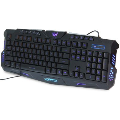A877 Three Adjustable Backlight Colors USB Wired Gaming Keyboard