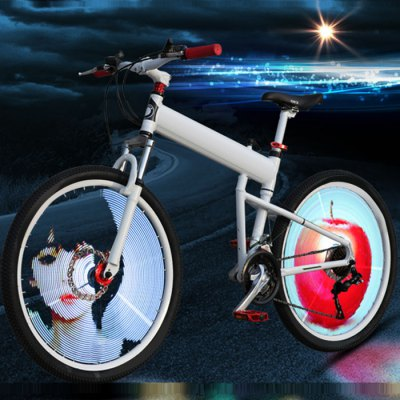 Yueqi YQ8007 DIY Programmable Bicycle Wheel Light RGB 3528 144pcs LED IPX6 Waterproof for 26 inch Bike Wheel