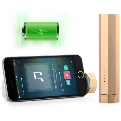 Ha-mate 3 in 1 Handheld Speaker + 3000mAh Portable Power Charger + Phone Stand