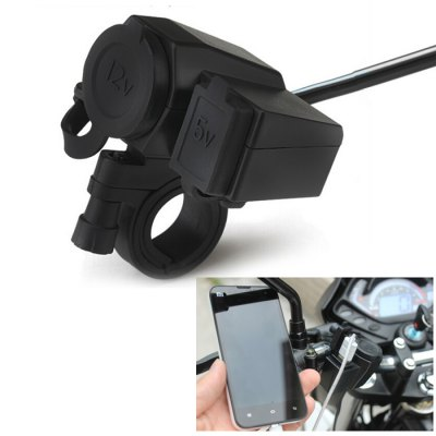 WUPP-01 12V - 24V Waterproof Motorcycle Output USB Charger Socket Power Plug
