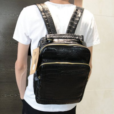 Fashion Crocodile Print and Black Design Mens BackpackMens Bags<br>Fashion Crocodile Print and Black Design Mens Backpack<br><br>Backpack Usage: Daily Backpack<br>Backpacks Type: Softback<br>Closure Type: Zipper<br>Pattern Type: Solid<br>Main Material: PU<br>Gender: For Men<br>Weight: 1.200KG<br>Package Contents: 1 x Backpack<br>Length: 30CM<br>Width: 11CM<br>Height: 41CM
