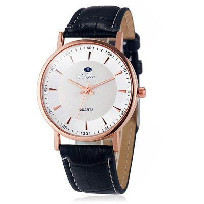 Jijia Male Dual Scale Quartz Watch with Leather StrapMens Watches<br>Jijia Male Dual Scale Quartz Watch with Leather Strap<br><br>Brand: Jijia<br>Watches categories: Male table<br>Watch style: Business<br>Available color: Black,White,Brown,Black and white<br>Movement type: Quartz watch<br>Shape of the dial: Round<br>Display type: Analog<br>Case material: Alloy<br>Band material: Leather<br>Clasp type: Pin buckle<br>The dial thickness: 1.0 cm / 0.39 inches<br>The dial diameter: 3.8 cm / 1.49 inches<br>The band width: 2.0 cm / 0.79 inches<br>Product weight: 0.030 kg<br>Package weight: 0.080 kg<br>Product size (L x W x H): 24.00 x 3.80 x 1.00 cm / 9.45 x 1.5 x 0.39 inches<br>Package size (L x W x H): 25.00 x 4.80 x 2.00 cm / 9.84 x 1.89 x 0.79 inches<br>Package Contents: 1 x Jijia Watch