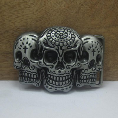 Gothic Style Men's Skulls Shape Alloy Belt Buckle