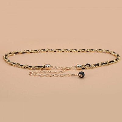 Small Ball Pendant and Alloy Splice Embellished Waist Chain For Women