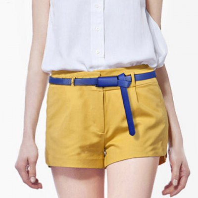 Chic Knotted Candy Color Slender Belt For Women