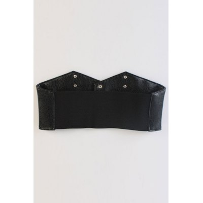 Chic Stud PU Leather Elastic Waistband For Women