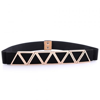 Triangle Shape Embellished Elastic Waistband For Women