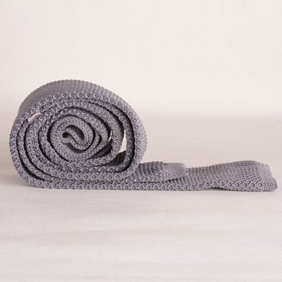Stylish Gray Knitted Neck Tie For Men