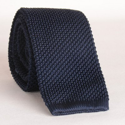 Cadet Blue Knitted Neck Tie For Men