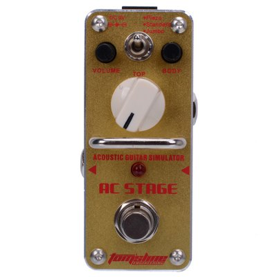 AROMA AAS - 3 AC STAGE Mini Simulator Effect Pedal Folk Guitar Style True Bypass