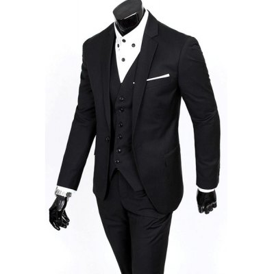 Laconic Lapel Special Breast Pocket Single-Breasted Slim Fit Long Sleeves Mens Blazer Three-Piece Suits(Blazer+Vest+Pants)Mens Blazers<br>Laconic Lapel Special Breast Pocket Single-Breasted Slim Fit Long Sleeves Mens Blazer Three-Piece Suits(Blazer+Vest+Pants)<br><br>Material: Cotton,Polyester<br>Clothing Length: Regular<br>Sleeve Length: Long Sleeves<br>Closure Type: Single Breasted<br>Weight: 1.417kg<br>Package Contents: 1 x Blazer 1 x Vest 1 x Pants
