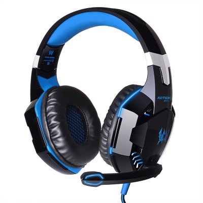 KOTION EACH - EACH G2000 USB and Audio Jack Dual Input Gaming Headset Stereo Headphone Sound Headset Stretchable Band 2.2m Nylon - coated Cable for PC Game
