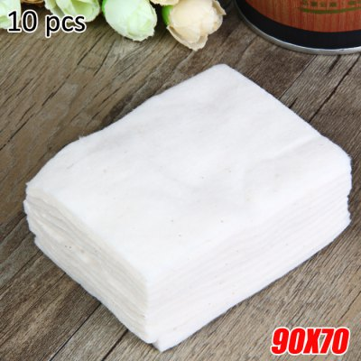 10 Pieces / Pack 90 x 70mm Organic Cotton for E-Cigarette Atomizer Wicking