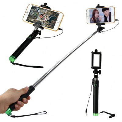 3.5mm Jack Cable Selfie Monopod with Phone Holder