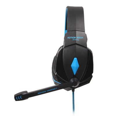 EACH G4000 USB and Audio Jack Dual Input Gaming Headset Stereo Headphone Sound Headset Stretchable Band 2.2m Nylon - coated Cable for iPhone / iPod / Smartphone / Tablet PC