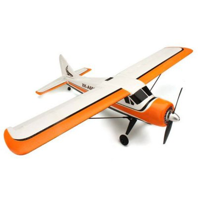 XK A600 5CH Brushless Glider RC Aeroplane RTF EU PlugRC Airplanes<br>XK A600 5CH Brushless Glider RC Aeroplane RTF EU Plug<br><br>Brand: XK<br>Built-in Gyro: Yes<br>Detailed Control Distance: 80~100m<br>Features: Radio Control<br>Flying Time: 9~10mins<br>Functions: Forward/backward, Sideward flight, Up/down, Turn left/right<br>Helicopter Power: Built-in rechargeable battery<br>Mode: Mode 2 (Left Hand Throttle)<br>Package Contents: 1 x Airplane, 1 x Set Wing, 2 x Strengthening Rod, 1 x Charger Set, 2 x Blades, 1 x Manual<br>Package size (L x W x H): 63.00 x 25.00 x 13.00 cm / 24.8 x 9.84 x 5.12 inches<br>Package weight: 1.1200 kg<br>Remote Control: 2.4GHz Wireless Remote Control,Built-in LCD Display<br>Transmitter Power: 4 x 1.5V AA battery (not included)<br>Type: RC Helicopters