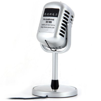 NW - 058 Professional Omnidirectional 3.5mm Dual Track Microphone for Desk PC and Notebook with Recording Function - SilverMicrophone<br>NW - 058 Professional Omnidirectional 3.5mm Dual Track Microphone for Desk PC and Notebook with Recording Function - Silver<br><br>Occasion: Desktop