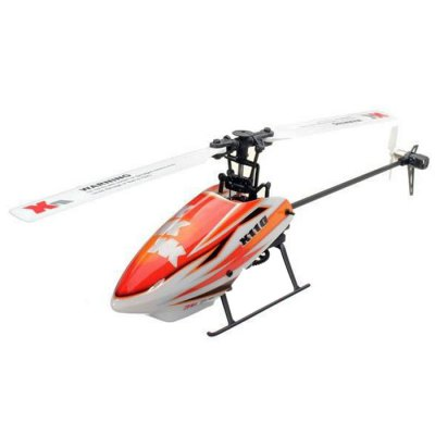 XK K110 6CH Brushless Single Blade RC Helicopter RTF with 3D and 6G ModeRC Helicopters<br>XK K110 6CH Brushless Single Blade RC Helicopter RTF with 3D and 6G Mode<br><br>Brand: XK<br>Built-in Gyro: Yes<br>Channel: 6-Channels<br>Detailed Control Distance: &gt;100m<br>Features: Radio Control<br>Flying Time: 7~8mins<br>Functions: Up/down, Turn left/right, Sideward flight, Hover, Forward/backward<br>Helicopter Power: Built-in rechargeable battery<br>Material: Plastic<br>Package Contents: 1 x Helicopter,1 x Transmitter, 2 x Main Blades, 1 x Tail Blade, 1 x Big Gear, 1 x USB Charger, 1 x Screwdriver, 1 x Six Interior Angle Wrench<br>Package size (L x W x H): 40.00 x 29.00 x 14.00 cm / 15.75 x 11.42 x 5.51 inches<br>Package weight: 1.3000 kg<br>Remote Control: 2.4GHz Wireless Remote Control,Built-in LCD Display<br>Transmitter Power: 6 x 1.5V AA battery (not included)