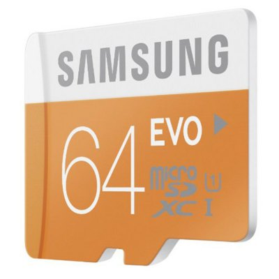 Original Samsung 64GB EVO Class 10 Micro SDXC Memory CardMemory Cards<br>Original Samsung 64GB EVO Class 10 Micro SDXC Memory Card<br><br>Apply to: Camera<br>Brand: SAMSUNG<br>Class Rating: Class 10<br>Memory Capacity: 64G<br>Memory Card Type: SDXC<br>Package Contents: 1 x Original Samsung 64GB EVO Class 10 Micro SDXC Memory Card<br>Package size (L x W x H): 13.80 x 8.90 x 0.80 cm / 5.43 x 3.5 x 0.31 inches<br>Package weight: 0.053 kg<br>Product size (L x W x H): 3.20 x 2.40 x 0.30 cm / 1.26 x 0.94 x 0.12 inches<br>Product weight: 0.003 kg<br>Read Speed: 48MB/s<br>Support 4K Video Recording: No<br>Type: Memory Card<br>UHS Speed Class: UHS-1<br>Write Speed: 50MB/s