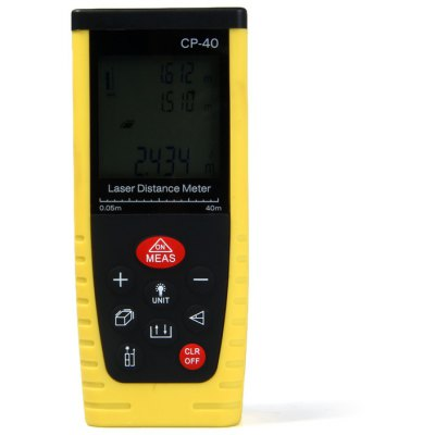 CP-40 40-Meters Portable High Precision Laser Distance Meter with LCD Display