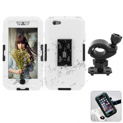 PC and Silicone Material Waterproof Dustproof Phone Cover Case with Bicycle Mount Holder Outdoor Kits for iPhone 6 Plus - 5.5 inch