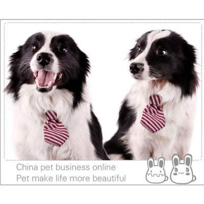 Cute Dog Bow - Tie Two Stripes Necktie Collar for Pet Dog