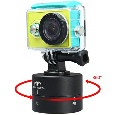 AT381 360 Degrees Panning Stabilizer Rotating Tripod Adapter Time-lapse Shoot Timer Pan / Tilt Head for Gopro / Xiaomi Yi / SJ4000 / SJ5000 / SJcam / DSLR / Phone