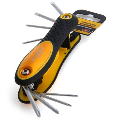 R'DEER RT - 8D 8 in 1 Slotted / Cross Folding Screwdriver Set
