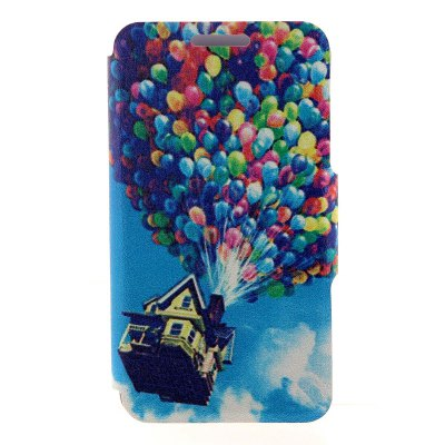 Colorful Balloons Pattern Cover Case with Stand for Nokia Lumia 625